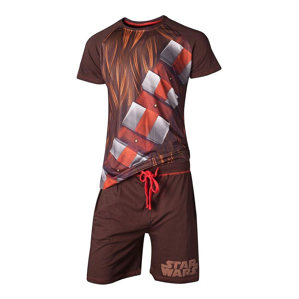 Star Wars Chewbacca Shortama Nightwear Set Male Large - Brown (SI101300STW-L)