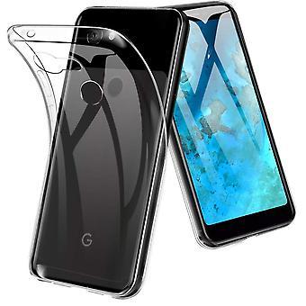 Google pixel 3a telefon fall fodral silikon transparent