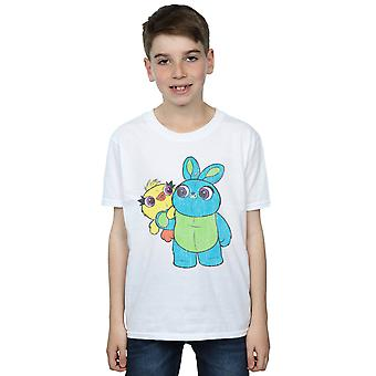 Disney Boys Toy Story 4 Ducky And Bunny Distressed Pose T-Shirt