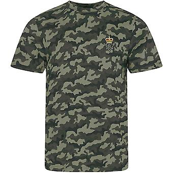 5th Royal Inniskilling Dragoon Guards - Licensed British Army Embroidered Camouflage Print T-Shirt