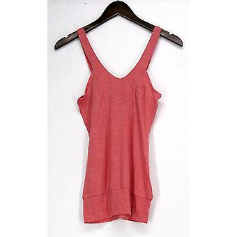 DNA Couture Top Everyday Rayon V-Neck Tops Coral Orange Womens