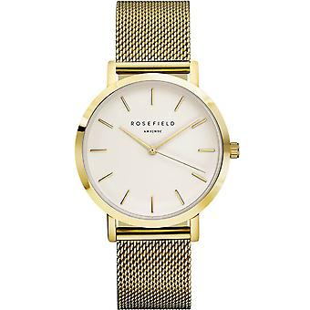 Rosefield mercer Quartz Analog Women's Watch with MWG-M41 Gold Plated Stainless Steel Bracelet