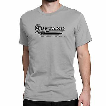 "T-shirt do Mustang de Ford. Oficialmente licenciado Ford Product. ""Ford Mustang cavalo Power"". Arte 046."