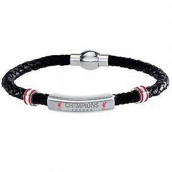 Liverpool Champions Of Europe Leather Bracelet