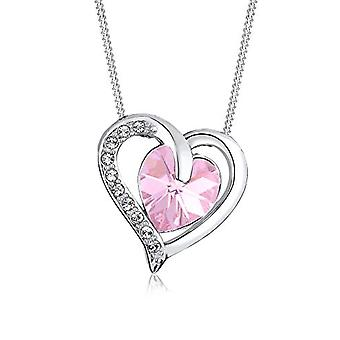 Elli Necklace with Silver Women's Pendant with Pink Crystal - 45 cm