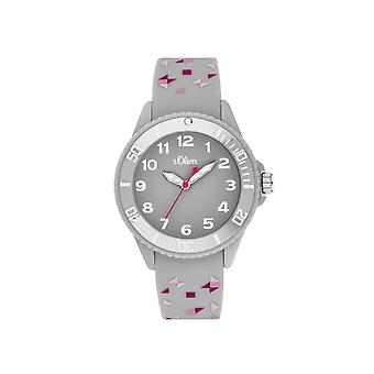 s.Oliver Watch Silicone Ribbon Watch Kids Girl SO-3922-PQ