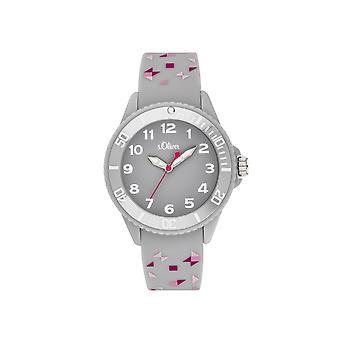 s. Oliver horloge silicone lint horloge Kids Girl SO-3922-PQ