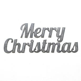 Merry christmas - metal cut sign 24x10in