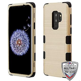 MYBAT Gold Brushed/Black TUFF Hybrid Phone Protector Cover pour Galaxy S9 Plus