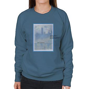 A.P.O.H Oscar Claude Monet Painting Quote Women's Sweatshirt