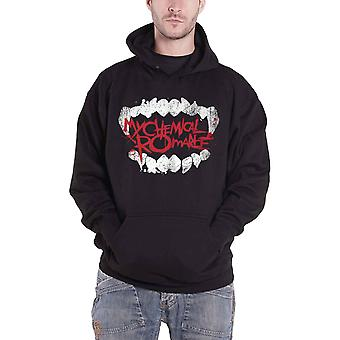 My Chemical Romance Hoodie Fangs Band Logo new Official Mens Black Pullover