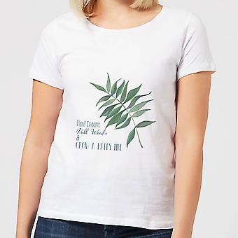 Pull Weeds & Grow A Happy Life Women's T-Shirt - White