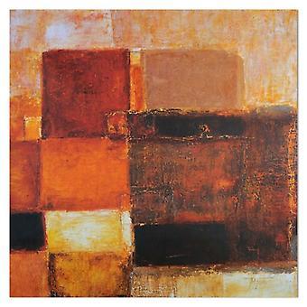 Deco paneel, donkere vormen-abstract