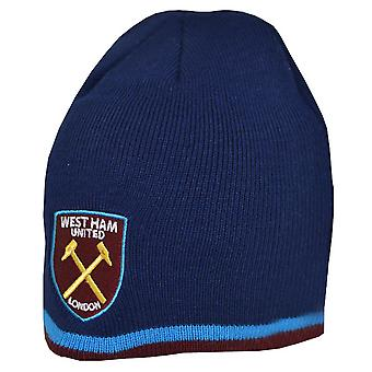 West Ham United FC Official Stripe Beanie Hat