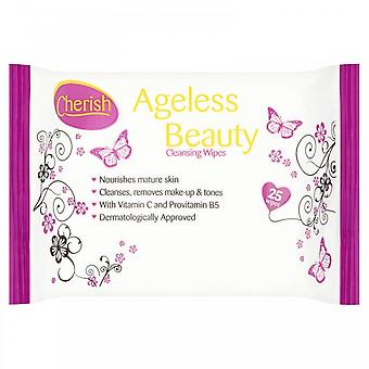 Cherish Ageless Cleansing Wipes - Pack Of 25