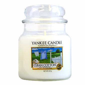 Vela Yankee Classic Médio Jar Clean Cotton Candle 411g