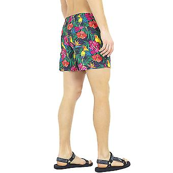 Brave Soul Mens Mexico Floral Swimming Summer Beach Pool Swim Shorts - Multi