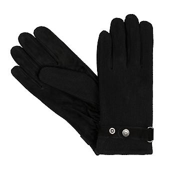 bugatti men's gloves gloves wool suede black 8352