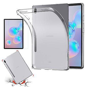 För Samsung Galaxy Tab S6 10,5 T860 T865 transparent fall fodral Cover + HD LCD-bild