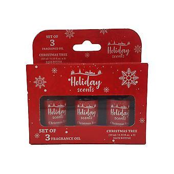 Óleo perfumado árvore de Natal 3-pack