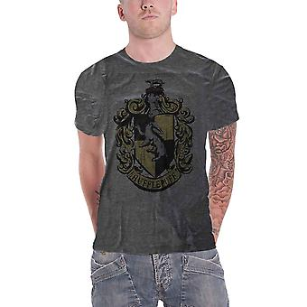 Harry Potter T Shirt Hufflepuff House Crest Dyed Official Mens Dark Heather