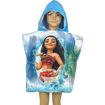 Vaiana/Moana Badponcho bath Towel Poncho 100 * 50 cm Blue