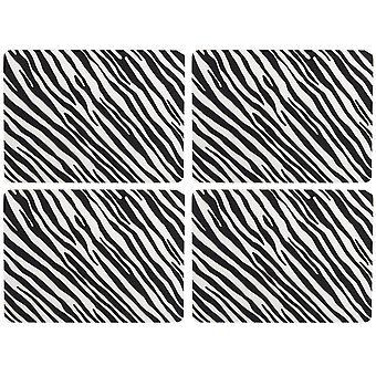 Navigere Madagaskar sett av 4 kuvertbrikker, Zebra stripe