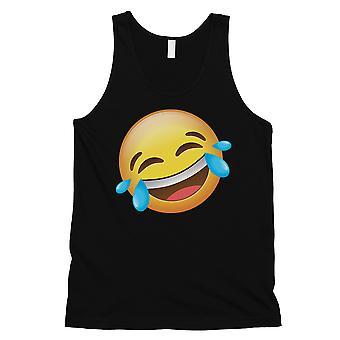 Emoji-يضحك الرجال الأسود سخيفة الكمال لطيفة دبابة أعلى هدية عيد ميلاد