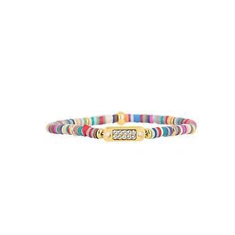 Les austauschbare Armband A58765 - Mini Plaque 2 Reihen bunte Gum Fonc Frauen