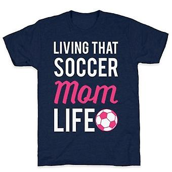 Vivre ce t-shirt de vie de maman de football