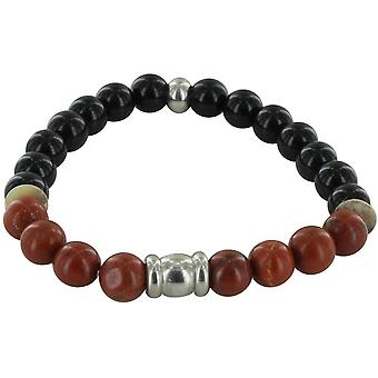Michelsons of London Agate and Jasper Bracelet - Black/Red