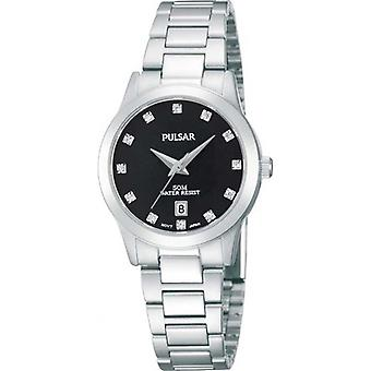 Pulsar Black Dial Stainless Steel Strap Ladies' Watch PH7277X1 27mm Case