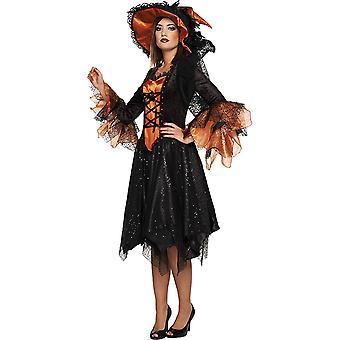Luxury noita naisten puku noitataikuri Halloween Mardi Carnival