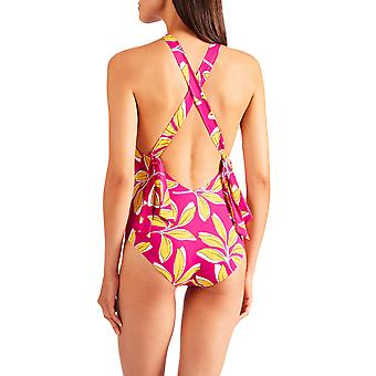 Aubade PV67 Women's Danse De Feuilles Floral Non-Padded Non-Wired Costume One Piece Swimsuit