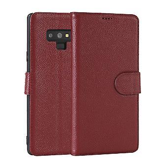 Samsung Galaxy NOTE 9 tapauksessa muoti punainen cowhide aitoa nahkaa ohut lompakko