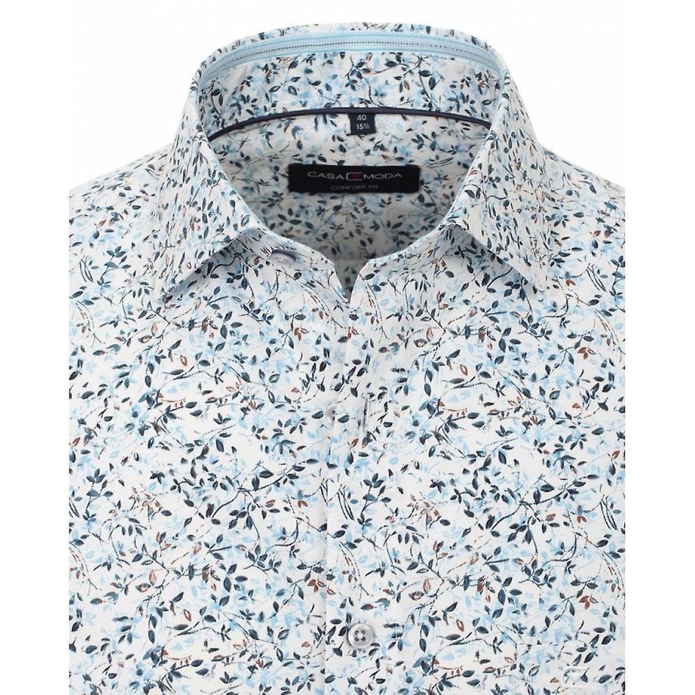 CASA MODA Casa Moda Fashion Leaf Print Shirt