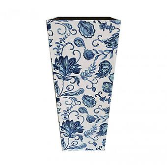 Meble Rebecca Parasol Holder Parasol Mdf Canvas White Blue Retro 50x21x21