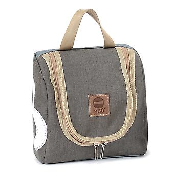 360 degree sailor XL toiletry bag made of canvas and tweed with number white waterproof