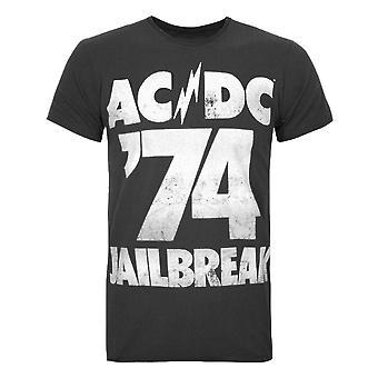 増幅されたAC /DC脱獄メン&アポス;s Tシャツ
