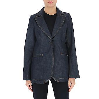 Victoria Beckham 1120djk000663a Women's Blue Viscose Blazer
