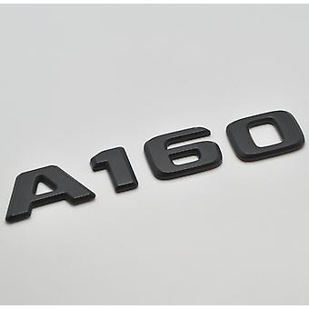 Matt Black A160 Flat Mercedes Benz Car Model Numbers Letters Badge Emblem For A Class W176 W177 AMG