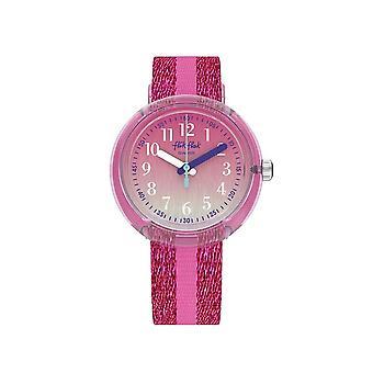 Flik Flak Watches Fpnp053 Pink Sparkle Textile Watch