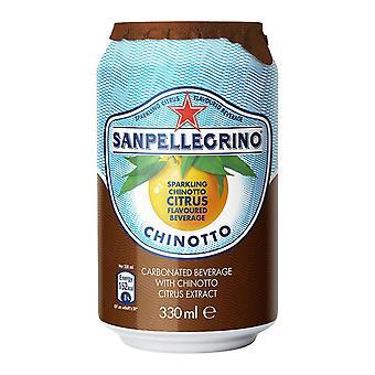 San Pellegrino Chinotti cans Us -( 330 Ml X 24 Burkar )