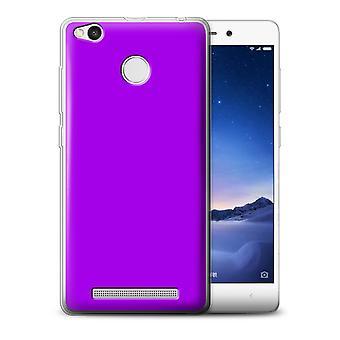 STUFF4 Gel TPU Fall/Cover für Xiaomi Redmi 3S/Purple/Colours