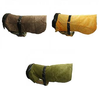 Vital Pet Products Corduroy And Leather Dog Coat