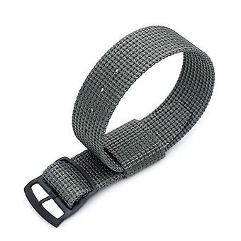 Strapcode n.a.t.o watch strap 20mm or 22mm miltat raf n7 3-d woven nylon nato watch strap, military grey, pvd black ladder lock slider buckle