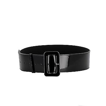P.a.r.o.s.h. D040081013 Dames's Black Patent Leather Belt