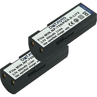2 x Dot.Foto Minolta NP-700 udskiftningsbatteri - 3.7V / 650mAh