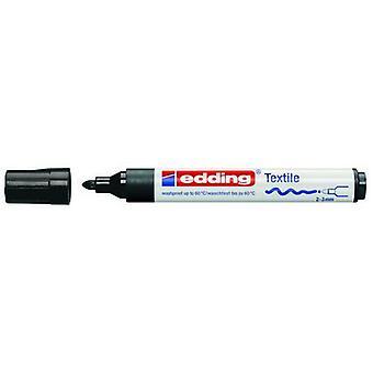 edding-4500 cr علامة النسيج الأسود 10PC 2-3 ملم / 4-4500001