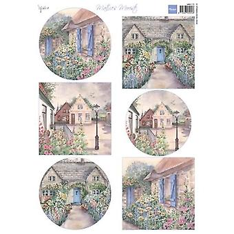 Marianne Design Decoupage Mattie's beautiful Cottages MB0173